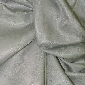 Paisley Futterstoff, grau