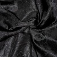 Paisley Futterstoff, schwarz