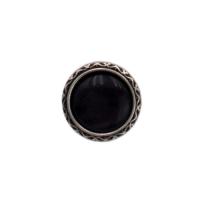 Dirndlknopf 13mm, dunkelgrau