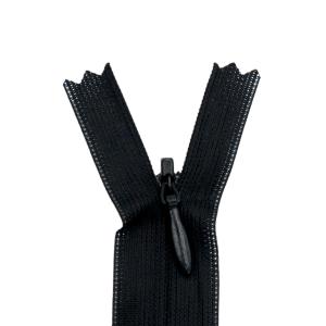 Nahtverdeckter Reißverschluss 40 cm, schwarz