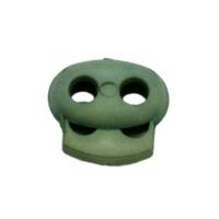 Kordelstopper mit Feder grün, 2 Löcher 18mm