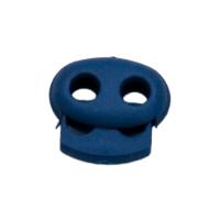 Kordelstopper mit Feder mittelblau, 2 Löcher 18mm