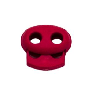 Kordelstopper mit Feder pink, 2 Löcher 18mm
