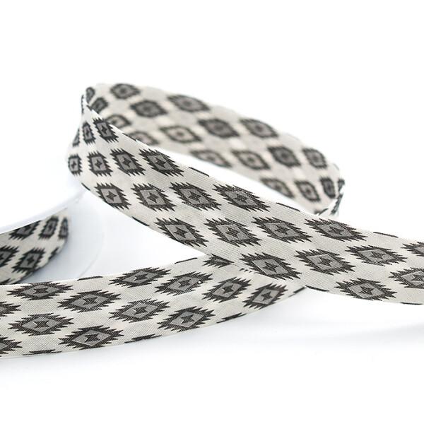 Zier-Schrägband 20 mm, grau