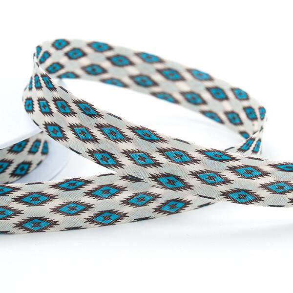 Zier-Schrägband 20 mm, blau