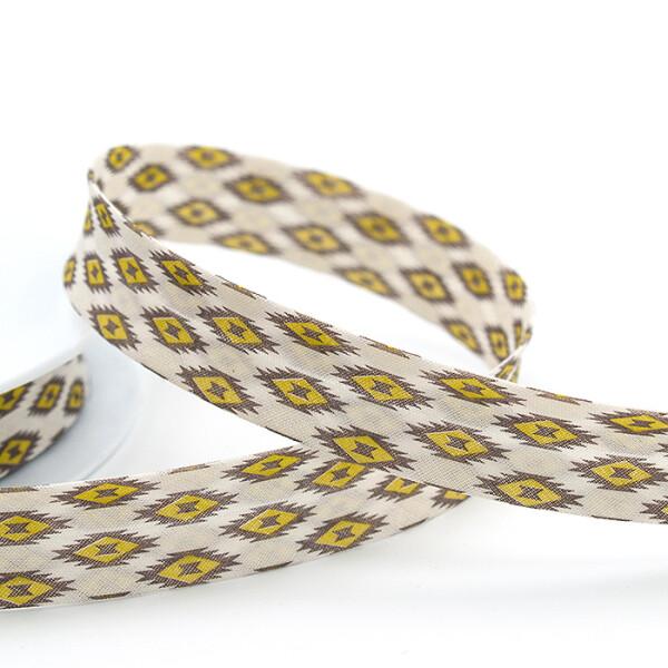 Zier-Schrägband 20 mm, gelb