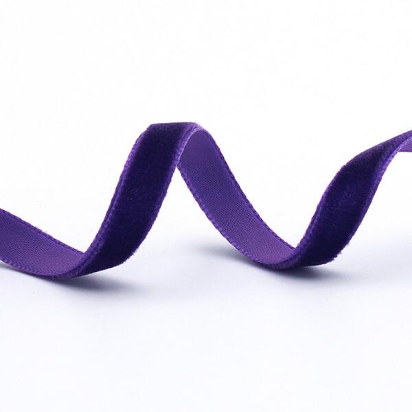 Samtband 10 mm, violett