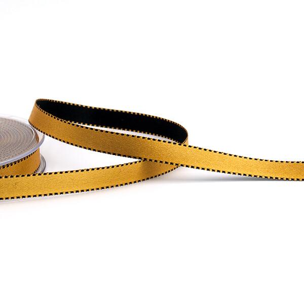 Satinband ockergold, 10 mm