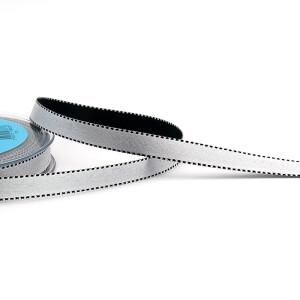 Satinband silbergrau, 10 mm