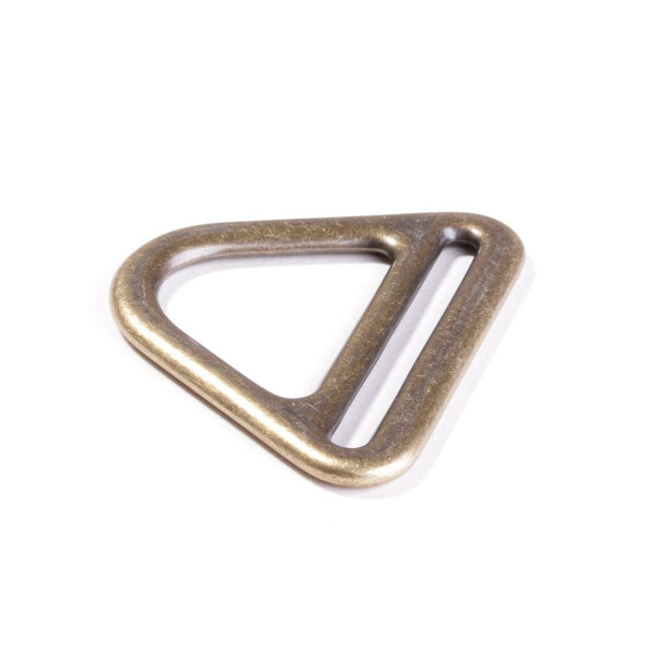 D Ring mit Steg 40 mm, messing