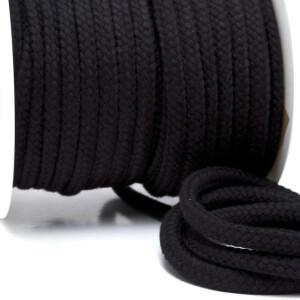 Flechtkordel 10 mm, schwarz