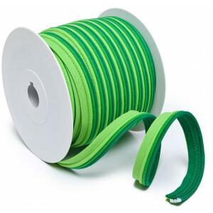 Paspelband dreifarbig 14 mm, lemon/grün