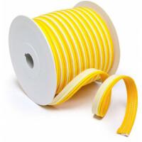 Paspelband dreifarbig 14 mm, gelb