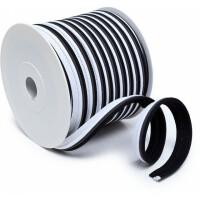 Paspelband dreifarbig 14 mm, schwarz