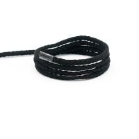 Flechtkordel 4 mm, schwarz
