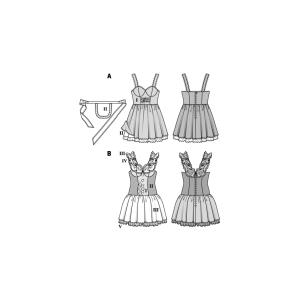 Zimmermädchen und Harlekin H/W 2018 #2354