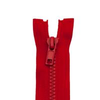 Reißverschluss Kunststoffkrampe 5mm, rot