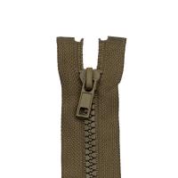 Reißverschluss Kunststoffkrampe 5mm, khaki