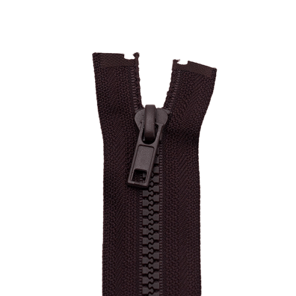 Reißverschluss Kunststoffkrampe 5mm, dunkelbraun