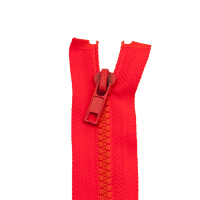 Reißverschluss Kunststoffkrampe 5mm, neon orangerot