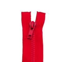 Reißverschluss Kunststoffkrampe 5mm, hochrot